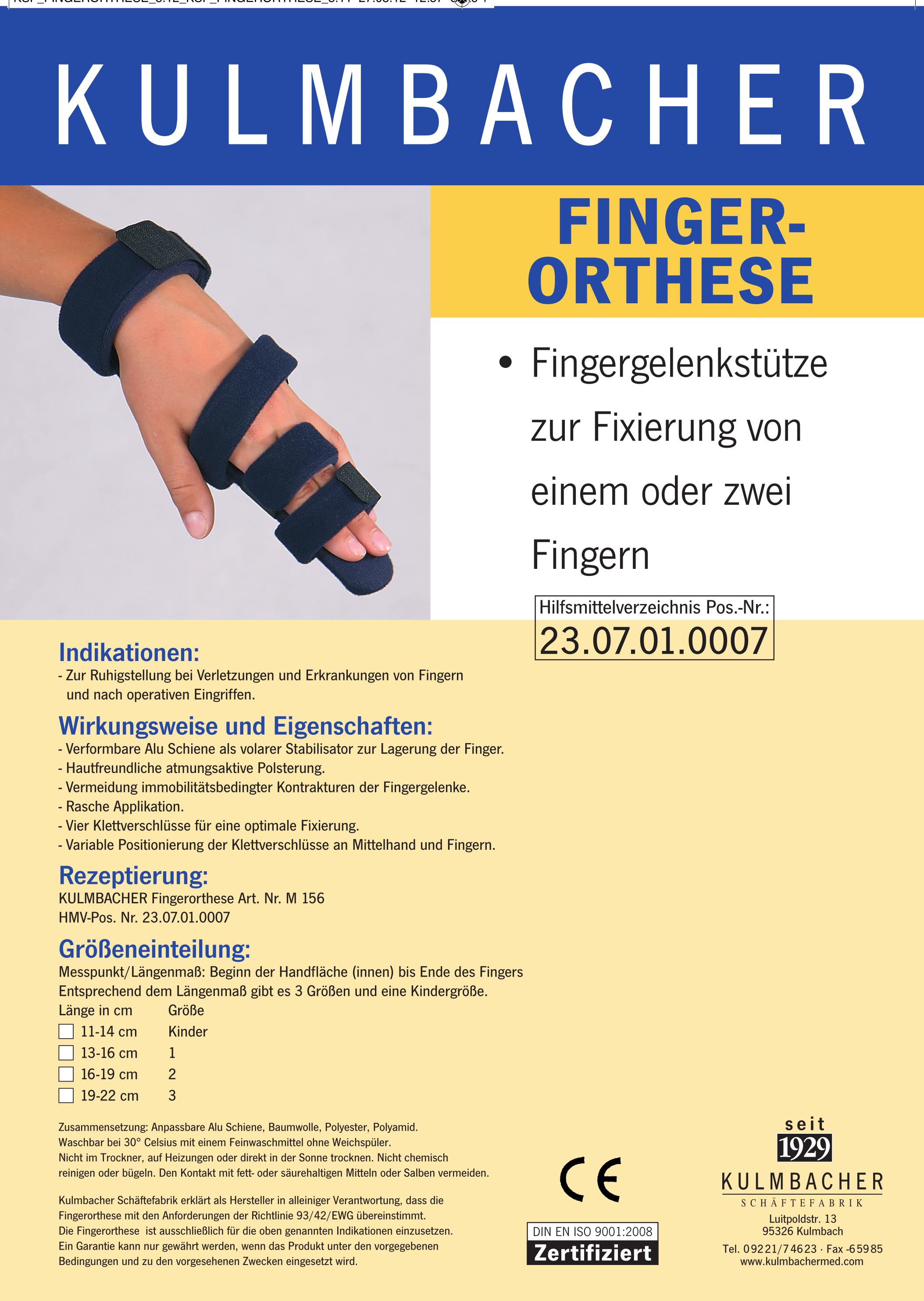 Fingerorthese Prospekt