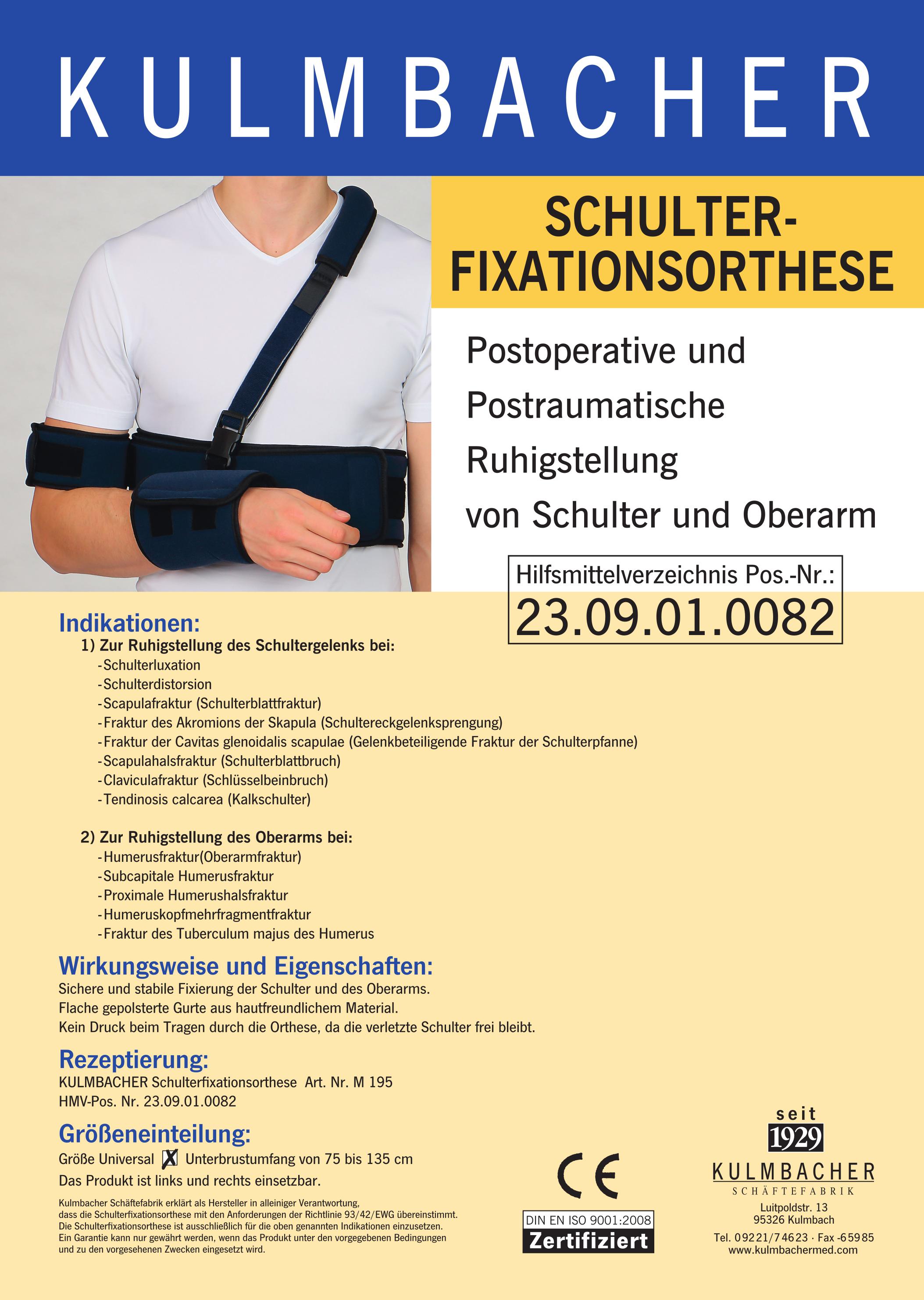 Schulterfixationsorthese Prospekt