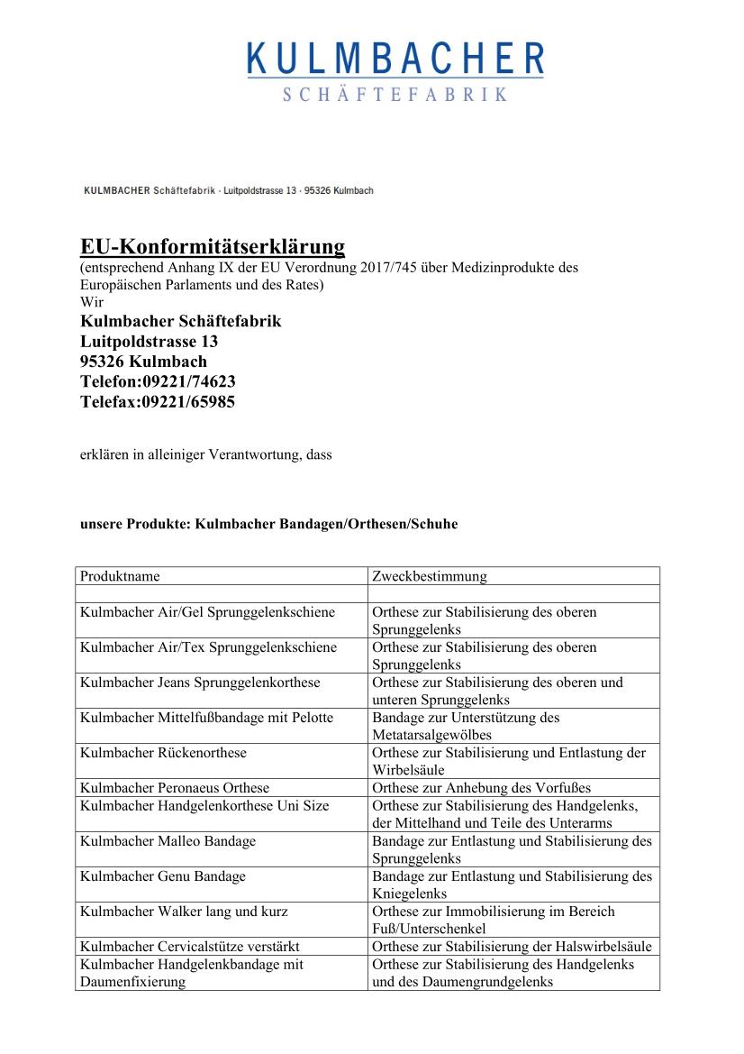 Konformitätserklärung MDR Bandagen Orthesen Schuhe_1