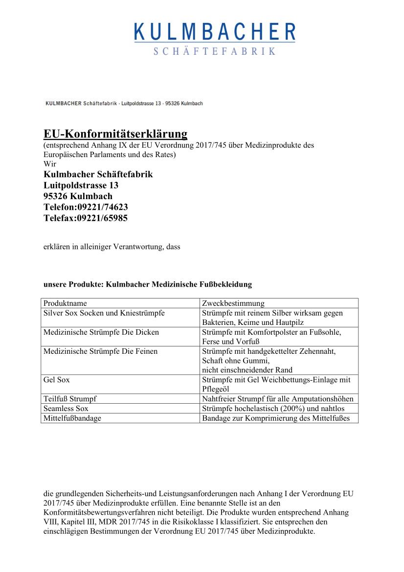 Konformitätserklärung MDR Medizinische Fußbekleidung_1